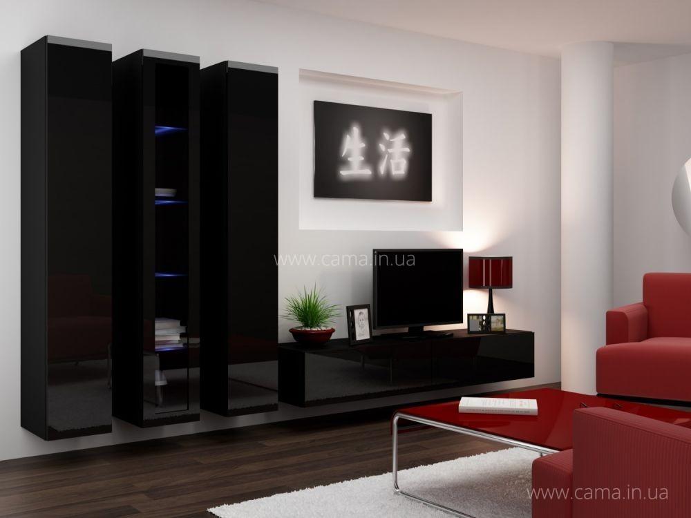Гостиная Vigo 2 черный/черный глянец
