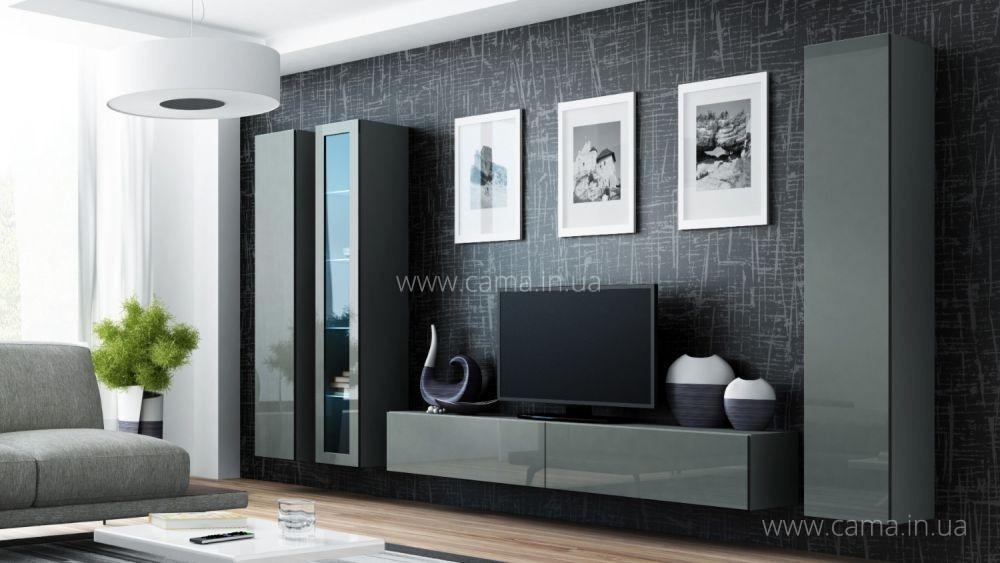 Гостиная Vigo 2 серый/серый глянец