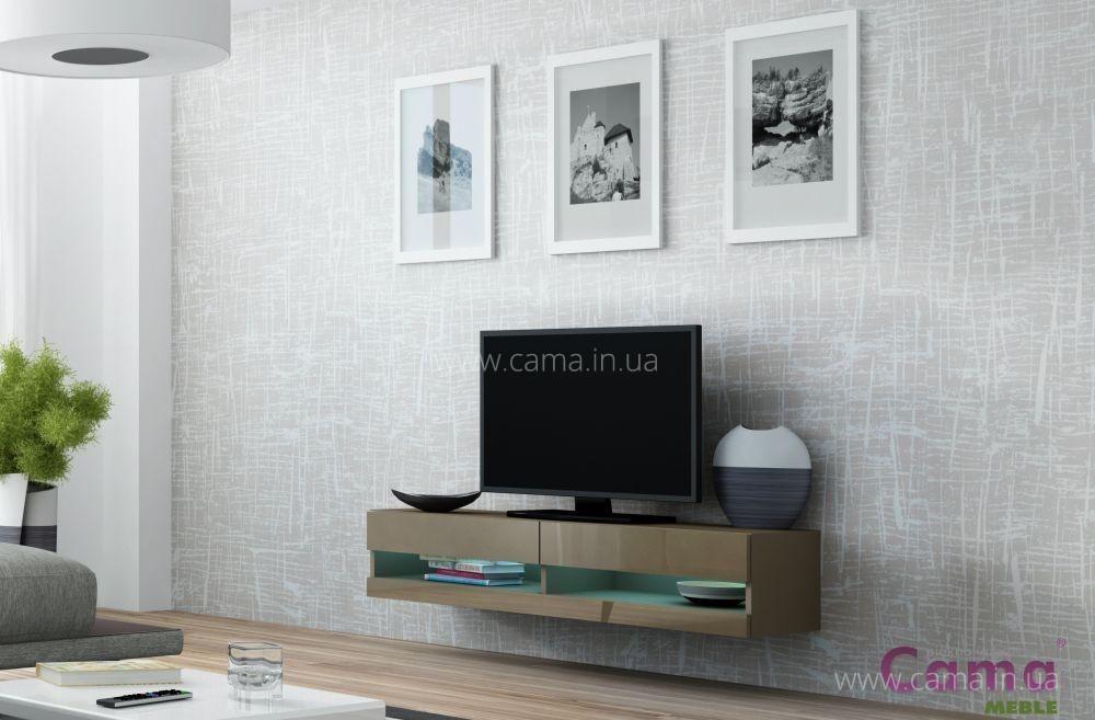 Комод открытый RTV Vigo 140 латте/латте глянец