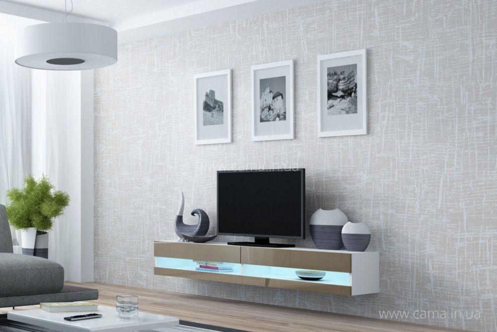Комод открытый RTV Vigo 180 белый/латте глянец
