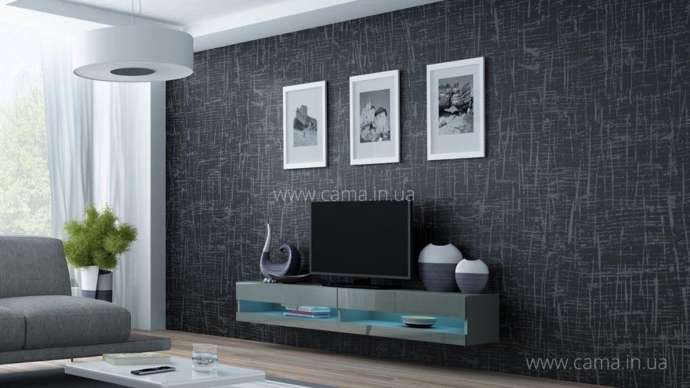 Комод открытый RTV Vigo 180 серый/серый глянец