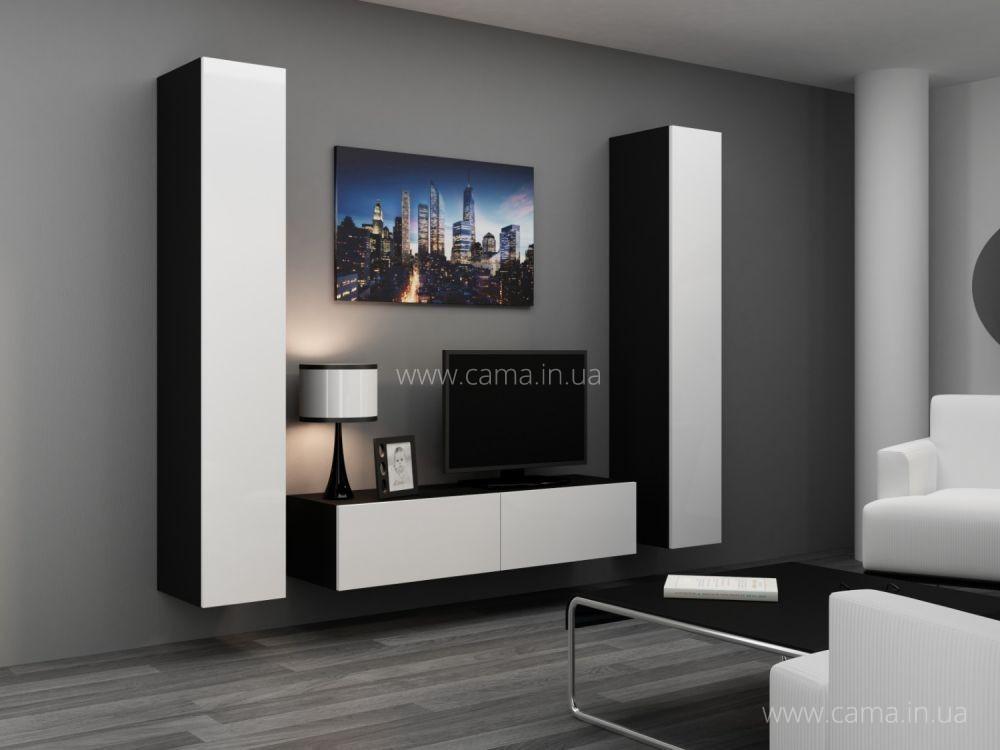 Гостиная Vigo 9 черный/белый глянец