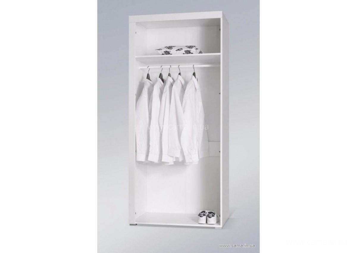 Шкаф Samba белый/черный глянец