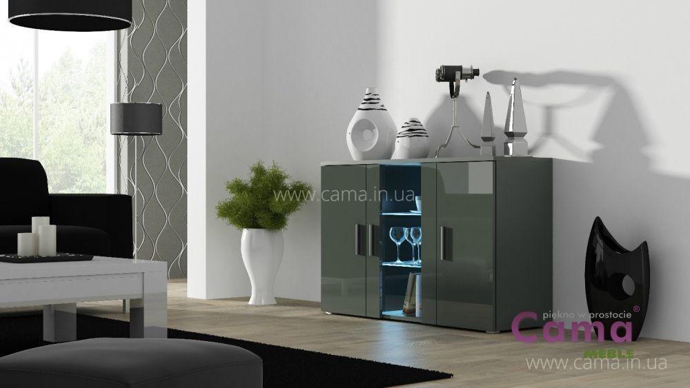 Комод Soho S7 серый/серый глянец