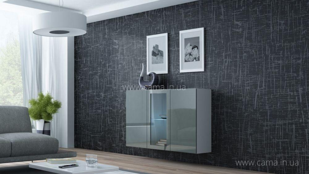 Комод Vigo 120 белый/ серый глянец