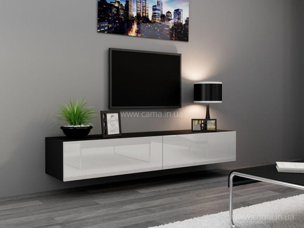 Комод RTV Vigo 140 черный/белый глянец