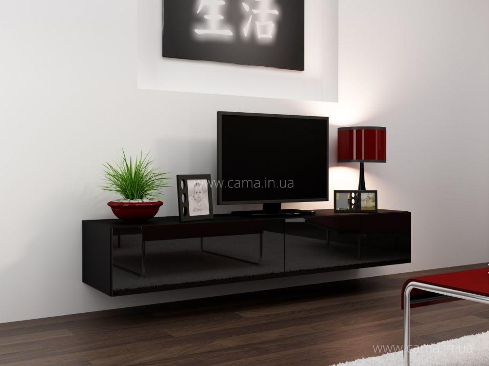 Комод RTV Vigo 140 черный/черный глянец