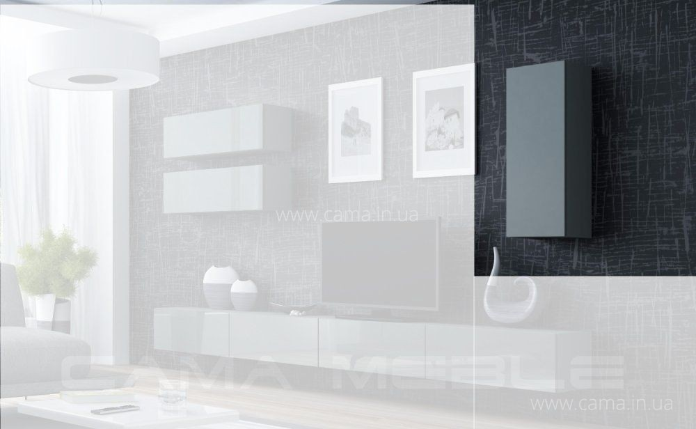Пенал навесной Vigo 90 серый/серый глянец