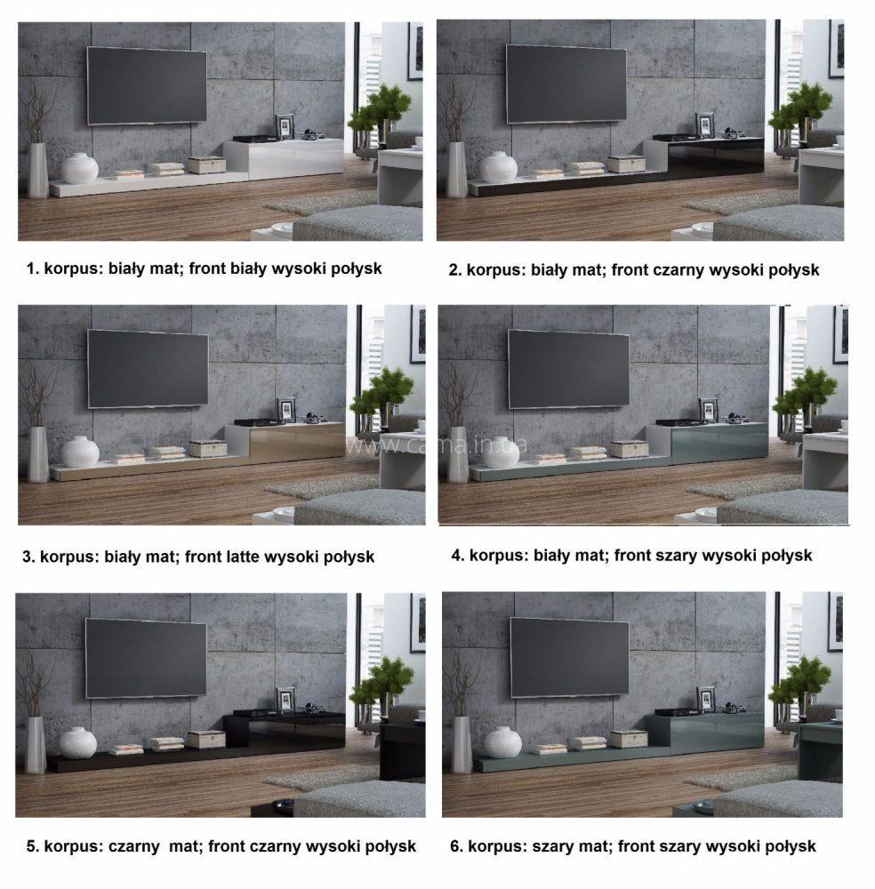 Гостиная Pixel 2 белый/серый глянец